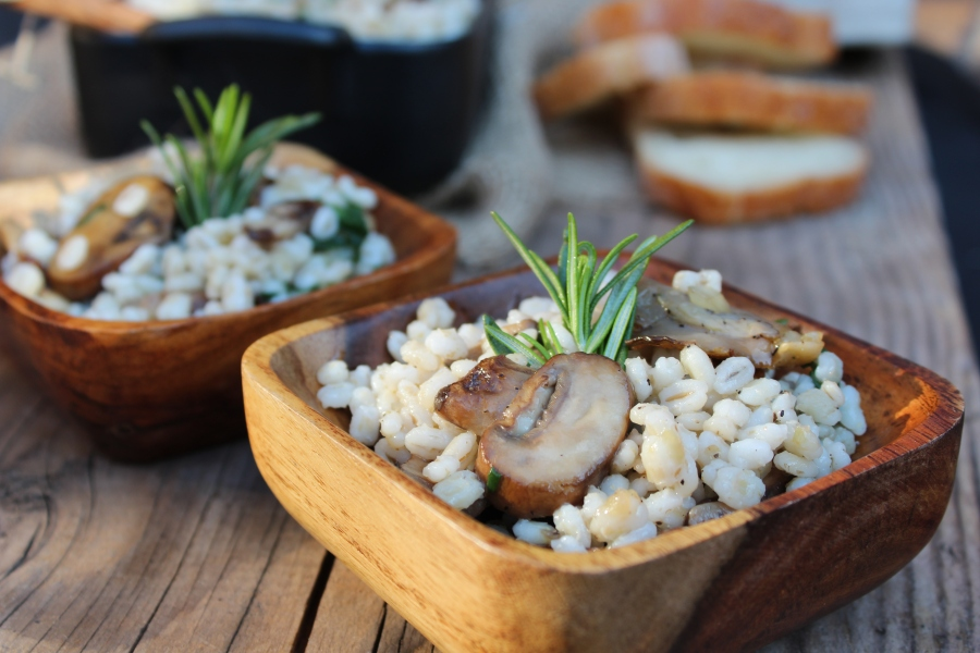 Pearled Barley & Mushrooms
