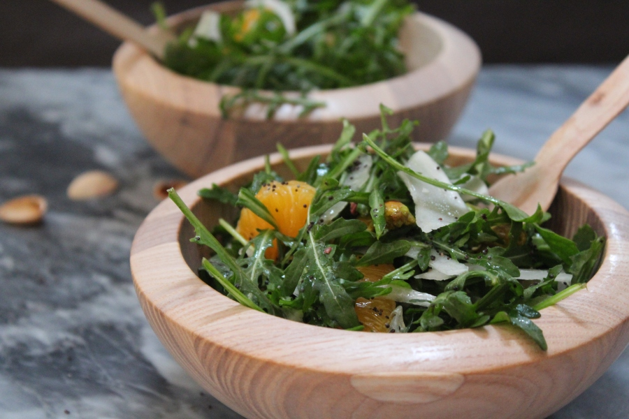 Organic Baby Arugula, Clementine, and Shaved Fennel Salad
