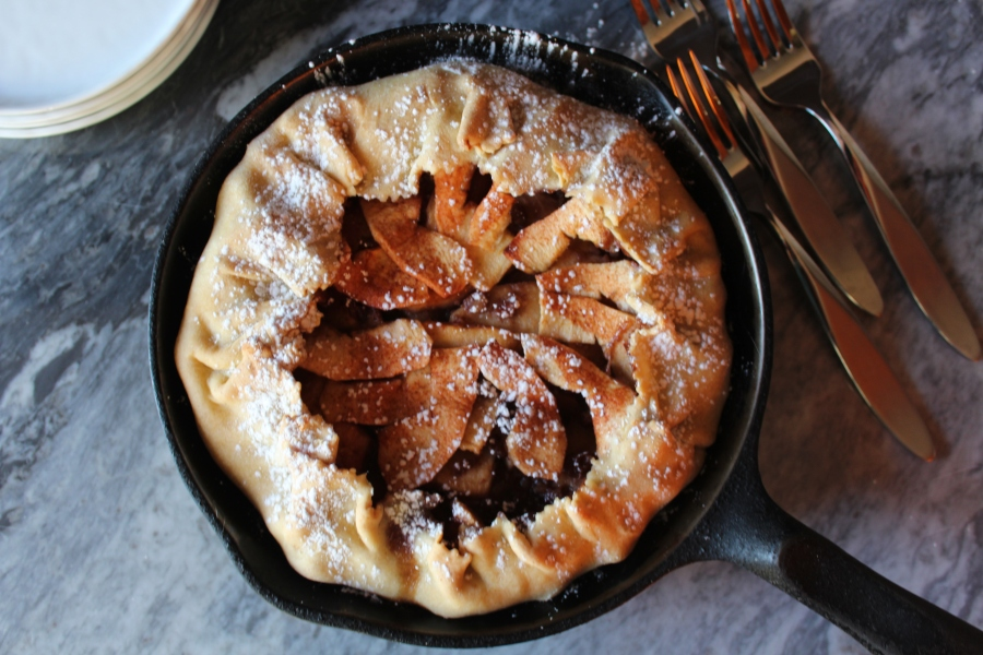 Apple, Pecan & Cranberry Crostata