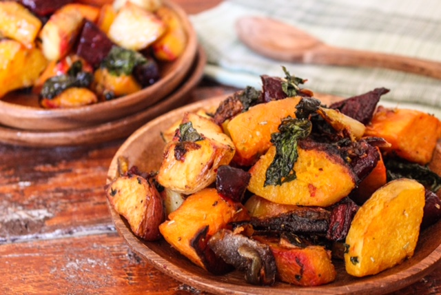 Roasted Beets, Sweet Potatoes, Butternut Squash and Yukon Golds