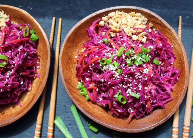 Stir Fried Cabbage and Thai Peanut Sauce