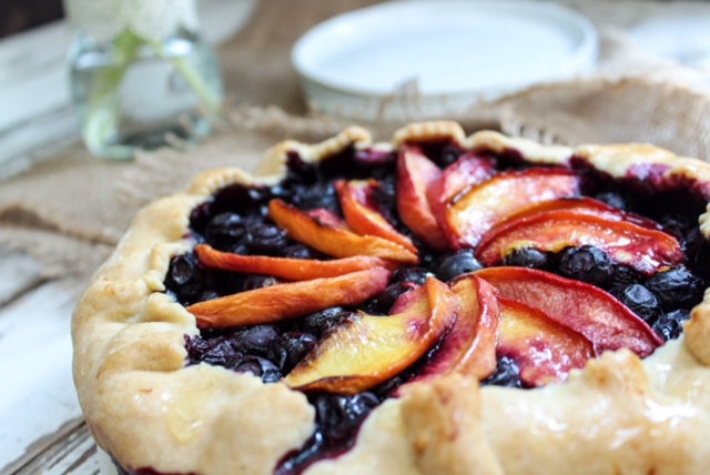 Organic Dairy-Free Blueberry and Peach Tartelette