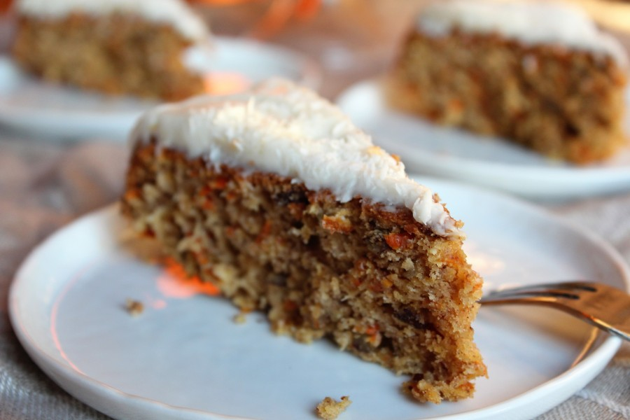 Carrot & Coconut Cake with Dairy-Free Yogurt Frosting