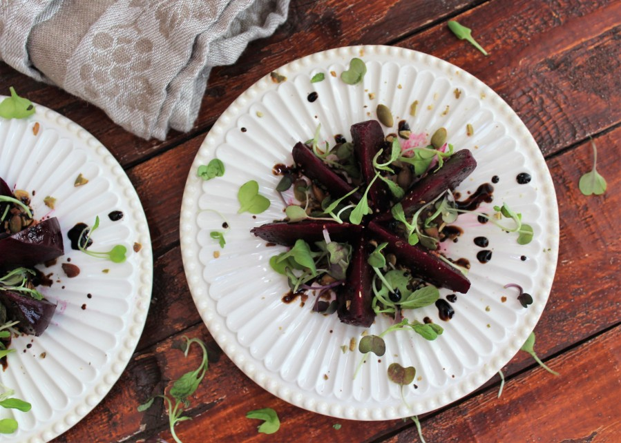 Balsamic Beets with Toasted Pepitas
