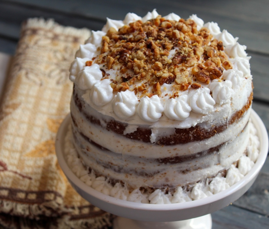 Naked Spiced Pumpkin Cake