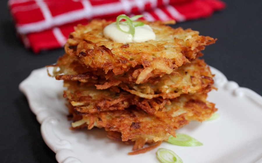 Crispy Potato Fritters with Dairy-Free Sour Cream